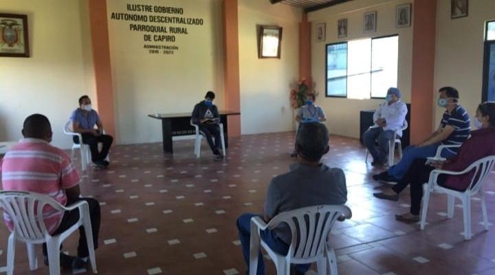 IMPORTANTE DIALOGO CON VARIAS AUTORIDADES DE LA PARROQUIA CAPIRO.